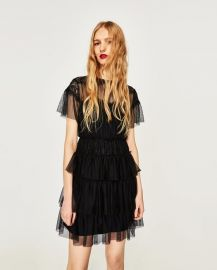 short tulle dress at Zara