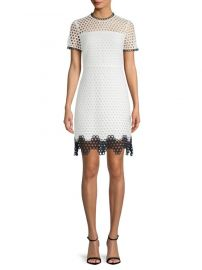 shoshanna Carter Mesh Sheath Dress at Saks Fifth Avenue