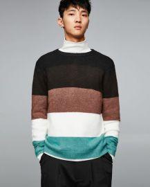 soft paneled sweater at Zara