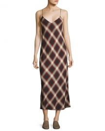 Vince plaid slip dress at Neiman Marcus