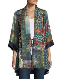 Koben Canvas Embroidered Twill Kimono at Neiman Marcus