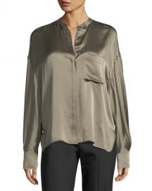 0deca20cf23d3d WornOnTV  Nikki s green satin blouse on The Young and the Restless ...