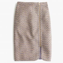 sparkle tweed zip-front pencil skirt at J. Crew