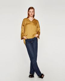 spotted smock top at Zara