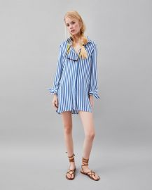 stripe print shirt at Zara