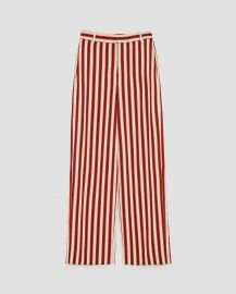 striped trousers at Zara