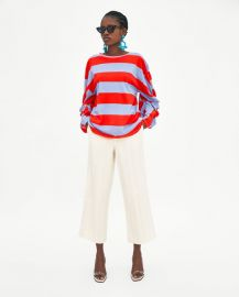 striped knotted t-shirt at Zara