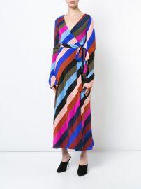 striped wrap dress at Farfetch