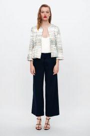 structured peplum jacket at Zara