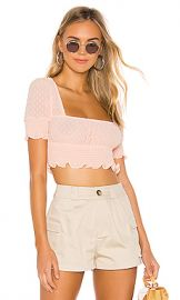 superdown Lexi Smocked Top in Peach from Revolve com at Revolve