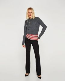 sweater with appliqu  s at Zara