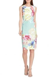 tahari Floral Scuba Sheath Dress at Lord & Taylor