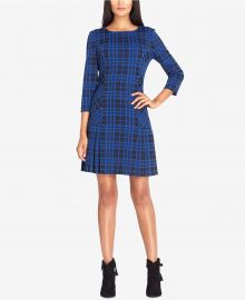 tahari asl Plaid Drop-Waist Dress at Macys
