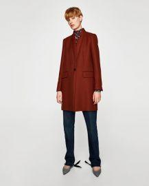 tailored coat at Zara