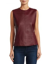 theory Leather Sleeveless Top at Saks Fifth Avenue