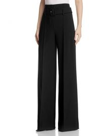 theory High-Waist Wide-Leg Pants at Bloomingdales