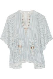 toile Isabel Marant   Joy embroidered striped cotton top at Net A Porter