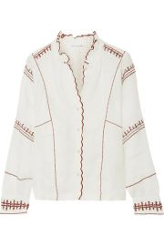 toile Isabel Marant   Delphine embroidered linen top at Net A Porter