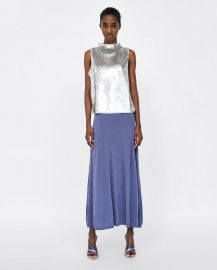 top with sequins at Zara