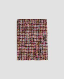 tweed-effect scarf at Zara