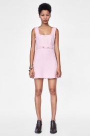 tweed mini dress at Zara