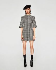 two-tone tweed dress at Zara