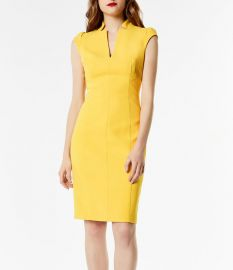 uff-Sleeve Sheath Dress at Bloomingdales