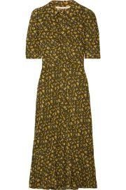 veronica beard Pike floral-print silk crepe de chine midi dress at Net A Porter