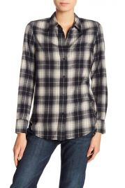 vince OVERSIZED PLAID BUTTON DOWN SHIRT at Nordstrom Rack