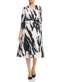 weekend max mara Cartone Brushstroke-Print Wrap Dress at Bloomingdales