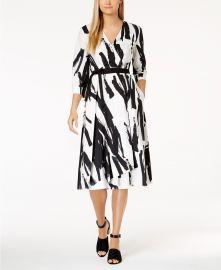 weekend max mara Cartone Brushstroke-Print Wrap Dress at Macys
