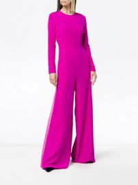 wide leg long sleeve jumpsuit by Adam Lippes at Farfetch