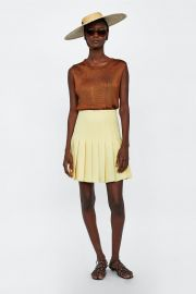 zara box pleat mini skirt at Zara