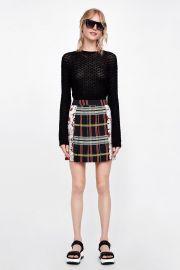 zara patchwork pleated skirt at Zara