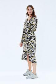 zebra printed dress at Zara
