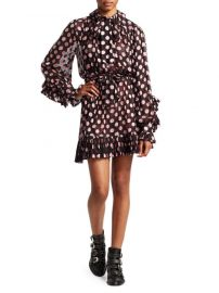 zimmermann Unbridled Polka Dot Ruffled A-Line Dress at Saks Fifth Avenue